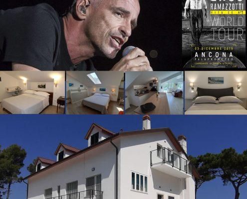 Eros Ramazzotti Ancona dove dormire bed and breakfast Palaprometeo